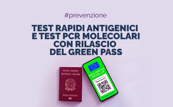 Green Pass per chi esegue test rapidi antigenici e test PCR molecolari